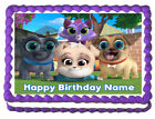 PUPPY DOG PALS Party Edible Cake topper image design