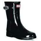 Womens Hunter Original Refined Back Strap Short Gloss Snow Rain Boots US 5-11