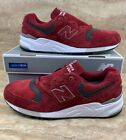 New Balance 999 Men's Running Shoes Red Burgundy Grey Made in USA Sneakers