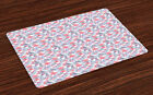Place Mats Set of 4 Durable Placemats for Dining Room Kitchen Table Ambesonne