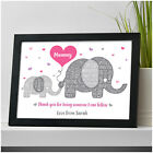 PERSONALISED Mummy Elephant Gifts Mum Nanny Birthday Gifts from Daughter Son