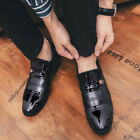 Mens Pointy Toe Slip on Business Work Slip on Office Dress Formal Leather Shoes