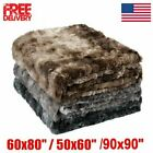 Fleece Throw Blanket Large Sofa Bed Thick Warm Faux Fur Mink Double & King Size image