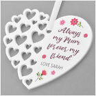 PERSONALISED Always My Mum Forever My Friend Birthday Heart Gifts for Mummy