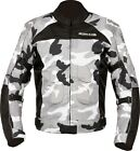 Buffalo Men's Camo Jacket Grey Black Waterproof Textile Motorcycle Jacket NEW