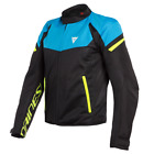 Dainese Bora Air Jacket Black Blue Yellow Vented Motorcycle Jacket New