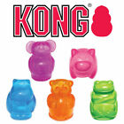 KONG Squeezz Jels Rubber Dog Toy Squeaky Animal Shaped Bouncy Throw Fetch Fun