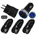 For Samsung Galaxy S8 S9 S10 Note 9 8 Fast Cell Phone Charger Car Wall Plug Cord
