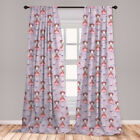 Room Decor Microfiber Curtains Panel Set of 2 with Rod Pocket by Ambesonne