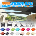 LARGE SUN SHADE SAIL CANOPY SUN SCREEN GARDEN PATIO AWNING UV BLOCK CREAM/ SAND