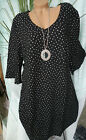 Samoon Dress Gerry Weber Black with Dots Size 44 to 54 plus Size (219)