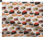 Cat Kitty Kawaii Food Animals Persian Sushi Fabric Printed by Spoonflower BTY