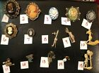 PICK A BROOCH PIN VINTAGE - NOW- CAMEO FLOWERS GOLF BIRDIE CLUB BALL B47