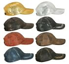 New Design Unisex Baseball Cap Genuine Leather Adjustable Casual and sports Caps