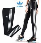 Adidas 3 stripes Leggings Women Gym Bottoms Joggers Fitness UK Size 6,8,10,12,14