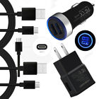 Fast Charging for Motorola Moto Z3 Z2 Force G6 X4 M Car Wall Plug Adapter Cable