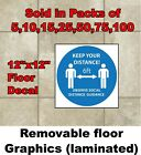 Vinyl floor decals for social distancing, 6 feet of separation at businesses b1