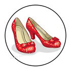 """30 RED RUBY SLIPPERS WIZARD OF OZ ENVELOPE SEALS LABELS STICKERS FAVORS 1.5"""""""