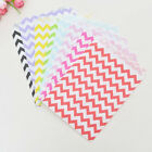 12Pcs Anti-oil Food Paper Bag Candy Wave Pattern Airtight Reusable Snack Bag