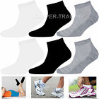 Trainer Liner Quarter Low Socks Mens Womens Cotton Rich Sports 3 6 12 Pairs LOT