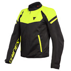 Dainese Bora Air Jacket Black Fluo Yellow Vented Motorcycle Jacket New