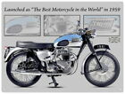 88236 Triumph Bonneville Motorcycle Wall Art Sign Decor LAMINATED POSTER CA $38.31 USD on eBay