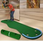 Home Golf Training Putting Mats Artificial Green Grass Portable Practicing Sets