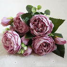 13 Heads Silk Peony Artificial Flowers Peony Wedding Bouquet Home Party Decor lo