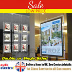 A4 A3 LED Window Light Pocket Panel Estate Agent Display Single Double Side