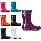 Womens Hunter Original Short Gloss Rubber Waterproof Snow Wellington Boot UK 3-9