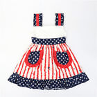 NEW Girls Boutique Ruffle Patriotic 4th of July Sleeveless Dress 3-4 5-6 6-7 7-8