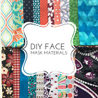 Kyпить DIY Face Mask - 100% Quilt Cotton Fabric Bundle - ELASTIC OPTIONS AVAILABLE на еВаy.соm