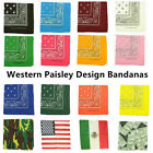 3 PCS Lot Paisley Bandana Face Mask Head Wrap Scarf 100% Cotton Mouth Cover