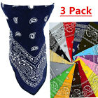 Kyпить 3 PCS Lot Paisley Bandana Face Mask Head Wrap Scarf 100% Cotton Mouth Cover на еВаy.соm