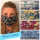 FACE MASK FOR WOMEN - BEAUTIFUL HANDMADE COTTON FABRIC + NOSE WIRE - USA MADE