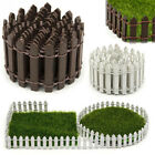 Wood Fence Garden Lawn Border Edge Tree Flower Edging Fencing Picket Set 5*90cm