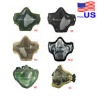 Tactical Protective Metal Mesh Half Face Mask Outdoor Military Airsoft USA