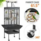 68/61-inch Large Parrot Bird Cage With Playtop/Rolling Stand/Bungee Rope