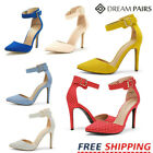 DREAM PAIRS Women's Pump Shoes High Heel Ankle Strap Party Wedding Dress Shoes