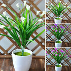 Artificial Lily Tulip Fake Flowers Plastic Fake Outdoor Plants Garden Decoration