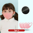 3pcs Kids/children Anti Smoke Dust Face Cover Mouth Muffle Washable Breathable