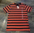 HUF Tee Red and Black Stripes