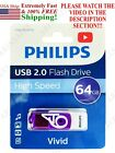 Philips USB Flash Drive high speed Sandisk SD vivid memory card  !! SEE VIDEO !!