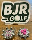 Grey and Pink Softspikes Pulsar Q Lok Q Fit insert system Golf Shoe Spikes Cleat