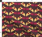 Conure Pet Parrot Bird Tropical Silly Animal Fabric Printed by Spoonflower BTY