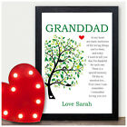 PERSONALISED Christmas Gifts for Dad Daddy Grandad Grandpa from Son Daughter