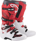 Alpinestars Tech 7 MX Dirt Boots WHITE RED BURGANDY