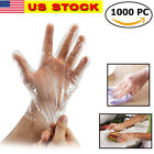 1000x Plastic Clear Gloves For Kitchen Food Home Cleaning Catering Cooking