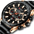 CURREN Men Watches Waterproof Wristwatch Male Chronograph Date Quartz Stee Watch
