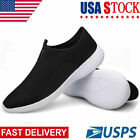 Mens Walking Shoes Slip Running Lightweight Breathable Mesh Fashion Sneakers